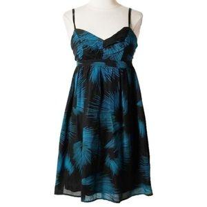 NWT Black and Teal Silk Mini Dress